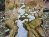 Josef Kern, Schneerest, 2015, Öl auf Leinwand, 86 x 65,5 x 5 cm, © Bildrecht, Wien 2016